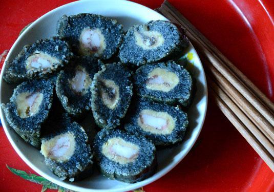 Bánh chưng đen, bánh rán tam giác mạch xứ Lạng 1
